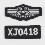 协警胸章胸号 魔术布贴胸徽胸牌 保安协警服肩章臂章胸号牌配件
