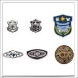 新款保安硬胸牌 新式铁胸章 喷漆 全国通用