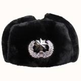 冬天帽子 保安帽 护耳帽 雷锋帽 棉帽 小区物业保安帽子 可戴帽徽