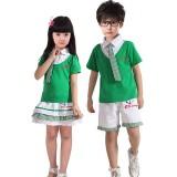 重庆校服中学小学生夏季重庆校服班服儿童演出服合唱服幼儿园园服夏装套装