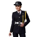 女士重庆西服式春秋保安制服套装 长袖 高档物业保安服 地产保安服