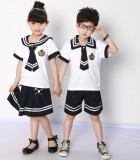 重庆校服厂家直销幼儿园园服夏装海军服中学小学生夏季重庆校服套装表演服