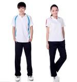 重庆校服高中学生春夏季运动服男女长裤上衣短袖纯棉