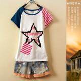 重庆校服新款夏装女装短袖重庆T恤英伦学院风棉t恤