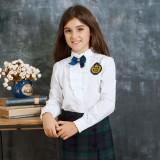 重庆校服英伦童装儿童衬衣女大童纯棉长袖衬衣学生童