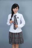 重庆校服初中高中学生重庆校服韩版重庆校服班服女生格子裙制服套装