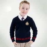 重庆校服英伦学院儿童毛衣男童打底套头针织毛线衣