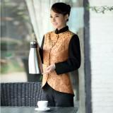 酒店服务员工作服秋冬装女 饭店茶楼服务员制服 西餐厅工作服长袖