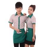 餐厅服务员工作服 短袖快餐店 酒店工作服夏装 女 咖啡店制服