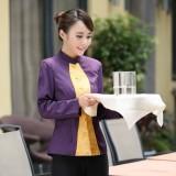 酒店工作服秋冬装 女 茶餐厅服务员制服 西餐厅服务员工作服长袖