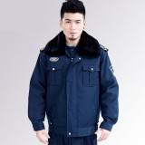 保安冬执勤物业保安制服冬装加厚保安棉大衣加厚夹克式防寒服