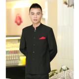 酒店服务员工作服秋冬装女 中餐厅前台接待工作服长袖 饭店制服