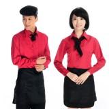酒店工作服长袖 快餐厅工作服 饭店服务员工作服 餐厅工作服制服