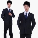 男士主管 黑色结婚礼服重庆西服套装 男装重庆西服 三粒扣商务西装