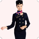 前台接待制服长袖空姐长袖套装 酒店工作服秋冬装 美容师工服新款