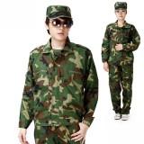 学生军训迷彩服装 套装 男女款 劳保迷彩工作服夏装批发