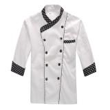 厨师服长袖 厨师服装 厨师服工作服 厨房工作服 厨师服秋冬装