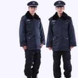 保安服冬装 保安大衣 加厚 保安制服冬装 多功能防寒服