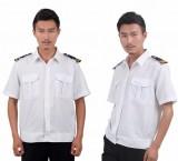 白色保安衬衣短袖保安服夏装半袖保安制服套装男女保安服装