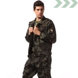 学生军训迷彩服套装 男女款 迷彩工作服夏装 休闲训练服潮