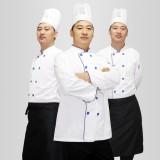 【厨师服】秋冬季长袖厨师工作服 饭店厨师服服务员工作服长袖