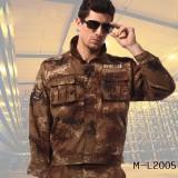 学生军训迷彩服套装男女款 沙漠荒漠服军迷野营迷彩服批发