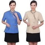 保洁服装夏 酒店工作服夏装女 保洁服装套装 商场清洁制服短袖