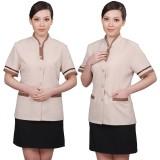 酒店工作服夏装女 客房保洁服装短袖套装 商场 餐厅清洁短袖