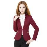 秋装新款 女士正装 圆领长袖西装西裤 职业套装 时尚OL