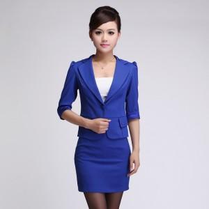 酒店工作服长袖套裙女 领班经理工作制服 女士职业套装秋冬
