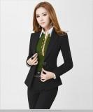 西装套装 黑色女士正装 套装女装时尚西装和西裤长裤