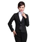 酒店工作服 前台经理领班 时尚女士空姐制服 职业套装秋冬