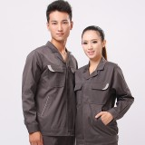 最新款修身工作服套装秋冬装全棉男女工服套装厂服