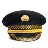 高档大檐帽 保安服配件 服饰配件 大盖帽 新款保安帽帽子