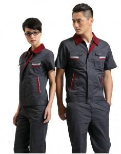 夏季短袖工作服 工衣工服涤棉工人工作服